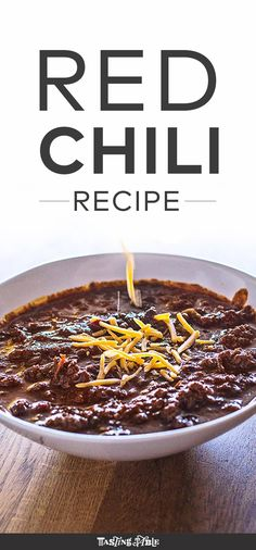 Texas Red Chili - Javelina's Richard Caruso shares his recipe for the ultimate Tex-Mex comfort food. Learn the secret spice blend to make a rich and spicy Tex-Mex staple: Chili.
