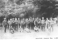 The Unionville Lacrosse team in 1890. Markham, Ontario.