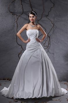 Strapless Ball Gown Wedding Dress 2014 with Corset Back