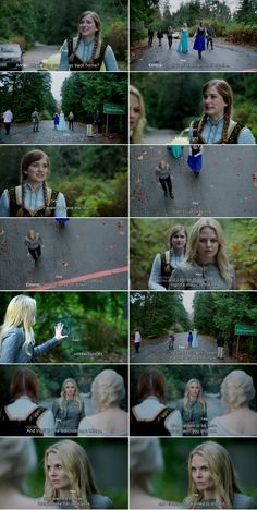 """""""Yeah, leaving this town has never been that simple."""" Emma, Anna and Elsa - 4 * 11 """"Heroes and Villains"""""""