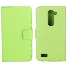 Flip PU Leather Wallet Protective Case For LG L BELLO DUAL D335