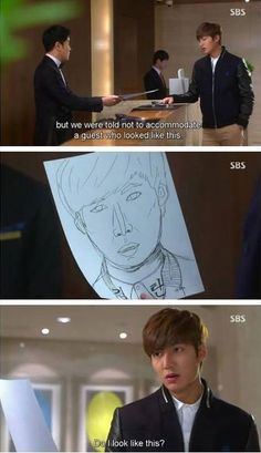 It's all about Kim Woo Bin and Kdrama Heirs Korean Drama, Korean Drama Funny, Korean Drama Quotes, The Heirs, Korean Dramas, W Kdrama, Kdrama Memes, Funny Notes From Kids, Kids Notes