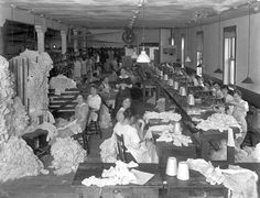 Hosiery mill sewing area  c 1915 Hines