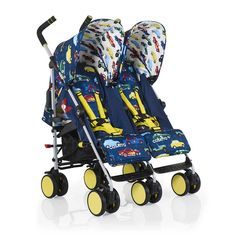 The Cosatto Supa Dupa Go is a twin stroller that's great for families on the go. Packed full of features and with a fun design, this stroller is essential for on the move. Buy your Cosatto Supa Dupa Go in Rev Up at Pramworld today!