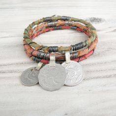 Silk Road Bangle Stack 3 Piece Set Tribal Gypsy by GypsyIntent, $38.00