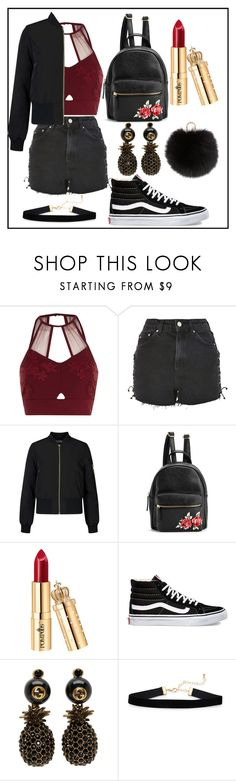"""Untitled #1136"" by fashionqueen886 ❤ liked on Polyvore featuring River Island, Topshop, Miss Selfridge, Vans, Gucci and Yves Salomon"