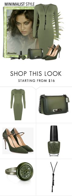 """nr 887 / Monochromatic"" by kornitka ❤ liked on Polyvore featuring WearAll, Coach, Jennifer Chamandi, OPI and Azhar"