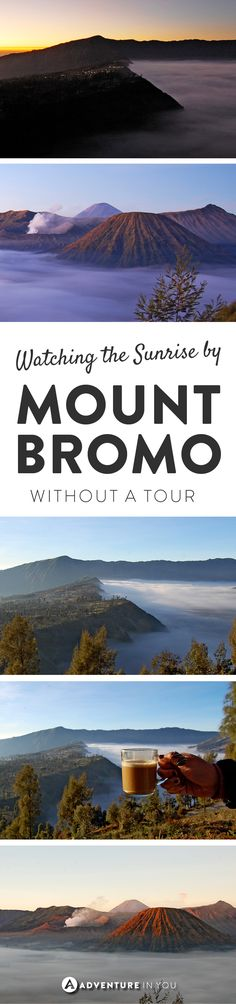 Mt. Bromo Indonesia | Experience the stunning sunrise by the famous Mt. Bromo in Java without having to join a tour.