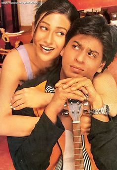 Shah Rukh Khan and Karisma Kapoor - Dil To Pagal Hai Bollywood Stars, Bollywood Couples, Shahrukh Khan And Kajol, Shah Rukh Khan Movies, Superstar, Srk Movies, Movie Dialogues, Karisma Kapoor, Sr K