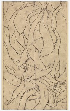 Louise Bourgeois, Les Fleurs, Etching on paper. © The Easton Foundation/DACS Abstract Sculpture, Sculpture Art, Metal Sculptures, Bronze Sculpture, Abstract Drawings, Art Drawings, Abstract Images, Tate Modern Gallery, Art Graphique