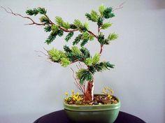Beaded Plant Bonsai Tree by artofbeads on Etsy