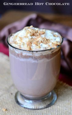 Gingerbread Hot Chocolate | from willcookforsmiles.com