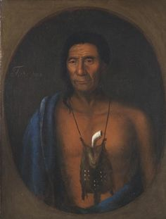 A 1735 portrait of the Delaware chief Tishcohan, commissioned by William Penn's son John, and painted by the Swedish artist Gustavus Hesseli...