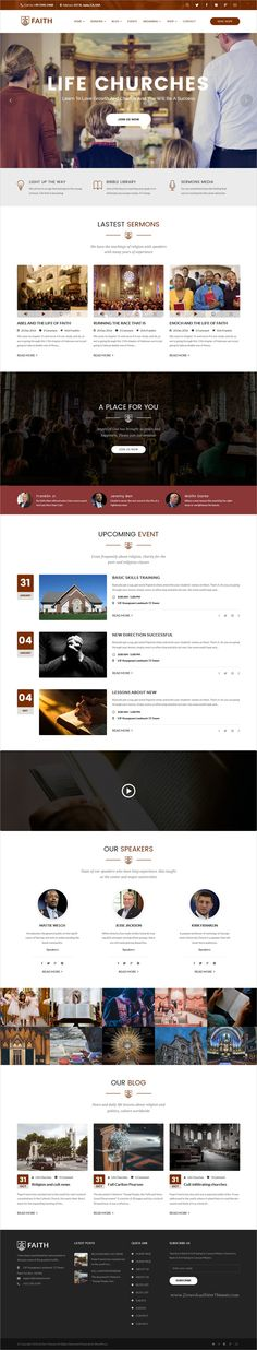 Life Churches is a great #WordPress theme for traditional and modern #churches and #religious organizations and other community events website download now➩ https://themeforest.net/item/life-churches-wordpress-theme-for-churches-and-events/19158857?ref=Datasata