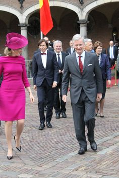 King Philippe and Queen Mathilde in The Hague, The Netherlands. 8-11-2013 Please credit when using. :)