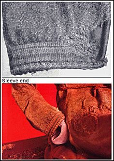 The Skjoldehamn Tunic (970-1050) Norway  Sleeve end details (I thought the dig was dated later than that - check the arch report!)