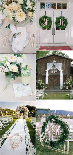 Wedding    Decorations»30 Wedding Monogram Decoration    Ideas That Wow
