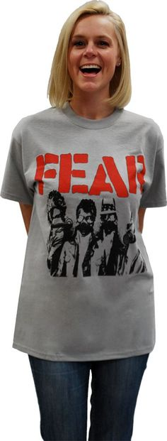 "FEAR ""VINTAGE GAS MASKS"" GREY T-SHIRT"
