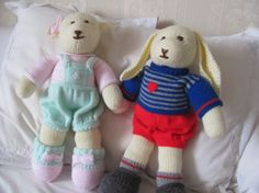 Your Makes: Denice's knitted teddy bear and bunnies