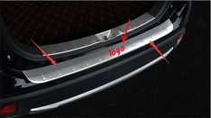 REAR BUMPER PROTECTOR DOOR STEP PANEL BOOT OUTER COVER SILL PLATE FIT FOR MITSUBISHI OUTLANDER 2016-2018 Car styling