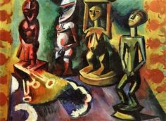 Still Life with Exotic Sculptures - Hermann Max Pechstein - The Athenaeum