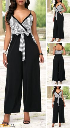 Trendy womens Bottoms on sale Business Casual Interview, Cool Outfits, Fashion Outfits, Sexy Jeans, African Dress, Stripe Print, Special Occasion Dresses, Ideias Fashion, Jumpsuit