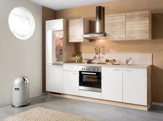 Küchenblock WIN - Bergeiche-weiß - links - 270 cm