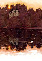 castle at a lake by Manadhiel