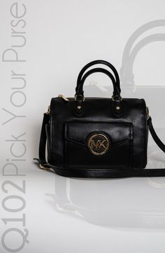 Michael Kors - Shoulder Satchel in Black.  Go to wkrq.com to find out how to play Q102's Pick Your Purse!