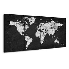 Navy blue and beige world map canvas map canvas canvases and free charcoal and silver world map gumiabroncs Gallery
