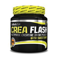Biotech USA Crea Flash 320g Orange:  The product's main ingredient is creatine, which increases physical performance during repeated short-term, high intensity exercise.* The product's functional vitamins, such as vitamin B3, vitamin B12 and vitamin B6, contribute to reducing tiredness and fatigue, thus improving training performance. The iron and vitamin B12 content contribute to the optimum blood supply, thus enhancing the metabolic supply of muscles.