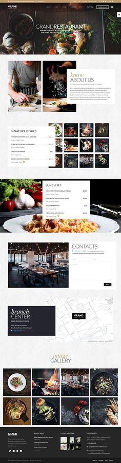 Ресторан Grand Cafe Премиум WordPress тема