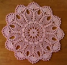 """from the book""""Heirloom Pineapple Doilies"""" by Patricia Kristoffersen - a set on Flickr - photos and completed doilies by Elaine Pawelko"""