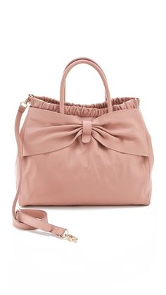 Calfskin Bow Satchel - RED Valentino