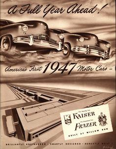 1947 Kaiser-Frazer brochure, illustrated by Arthur Radebaugh