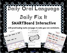 Daily oral Language 6th Grade