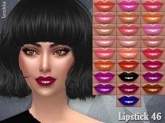 Lipstick 46 by Sintiklia at TSR via Sims 4 Updates
