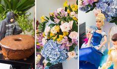 Festa Heróis e Princesas | Macetes de Mãe Table Decorations, Party, George Pig, Home Decor, Paper Pom Poms, Creativity, Centerpieces, Princesses, Jello