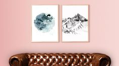 Affordable Art. Crystal Jade Prints. 'Once In A Blue Moon' and 'Let's Escape To The Mountains' from $40 each.
