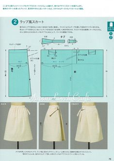Items similar to Basic Sewing Dress Patterns, Japanese Sewing Pattern Book, Japanese Style Simple Skirt Pattern, Women Clothing, Sewing Tutorial Reference on Etsy Japanese Sewing Patterns, Dress Sewing Patterns, Clothing Patterns, Apron Patterns, Sewing Clothes, Diy Clothes, Clothes For Women, Sewing Basics, Basic Sewing