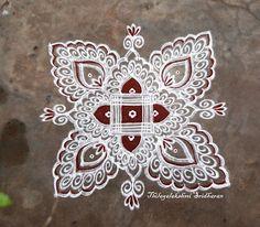 Rangoli and Art Works: PADI KOLAM WITH FREEHAND EXTENSIONS
