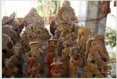 Tradicional Barro Artesanías del Familia Blanco. Teodora Blanco Tienda del Barro.| Santa María Atzompa, Oaxaca, México.| Fotos por Rebecca Bewick, Febrero 2015. //