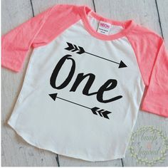 """First Birthday Shirt - This """"ONE"""" shirt is perfect for your little one's birthday or all year round! We at Bump and Beyond Designs love to help you celebrate life's precious moments! This American App"""