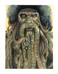 Watercolor Davy Jones