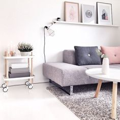 Nordic interiors inspiration;  pastel living room