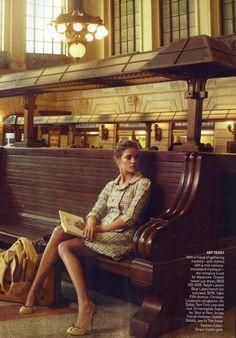 """""""Brief Encounter """" : Natalia Vodianova : US Vogue February 2010"""