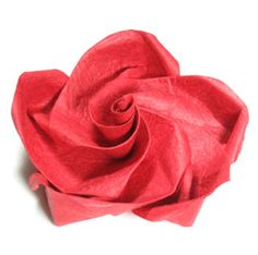five-petals lovely origami rose  paper flower