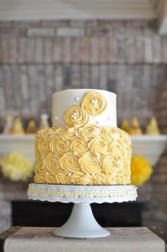 2 tier cake rosettes - Google Search