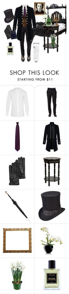 """Dorian Gray"" by fmsgray ❤ liked on Polyvore featuring Yves Saint Laurent, Ermenegildo Zegna, Alexander McQueen, Scala, Fountain, Eva Solo, Ziva, Jardins D'Écrivains, men's fashion and menswear"
