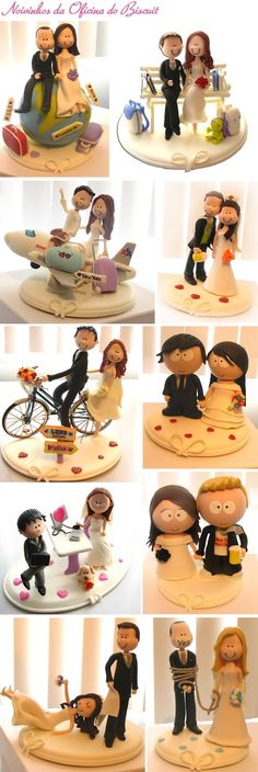 Sis could you not make A cake topper? With fimo or fonfdgt% Fondant Toppers, Fondant Cakes, Cupcake Cakes, Wedding Cake Toppers, Wedding Cakes, Fondant People, Fondant Figures, Sugar Craft, Love Cake